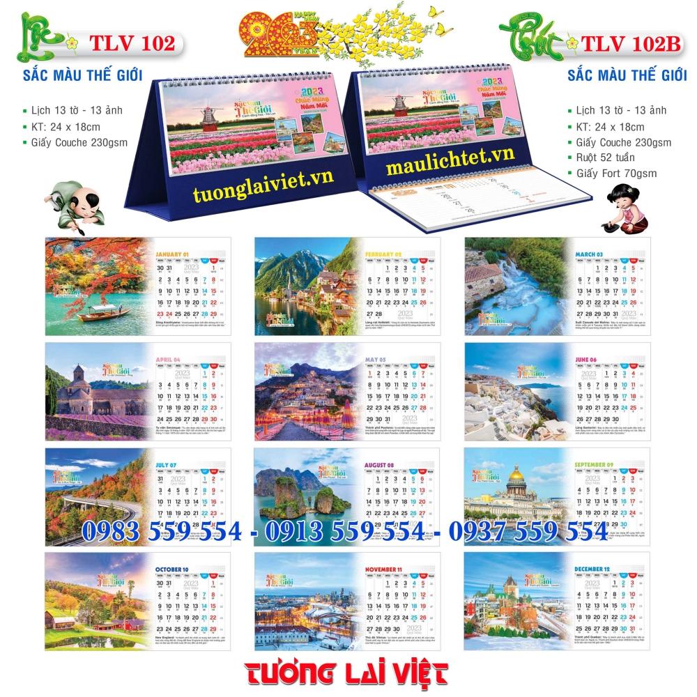 Mẫu Lịch Để Sen Việt